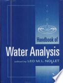 Handbook of Water Analysis Book