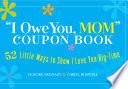 I Owe You  Mom Book
