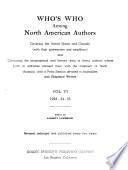 Who's who Among North American Authors  , Volume 6
