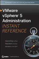 Pdf VMware vSphere 5 Administration Instant Reference