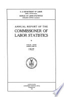 Annual Report Of The Commissioner Of Labor Statistics