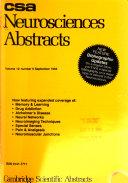 CSA Neurosciences Abstracts Book