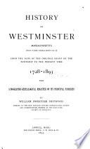 History of Westminster, Massachusetts
