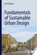 Fundamentals of Sustainable Urban Design Book