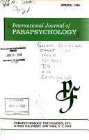 International Journal of Parapsychology