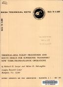 Terminal area Flight Procedures and Route Design for Supersonic Transport New York transatlantic Operations