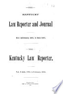 The Kentucky Law Reporter