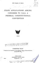 State Applications Asking Congress To Call A Federal Constitutional Convention
