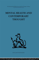 Mental Health and Contemporary Thought ebook