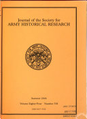 Journal of the Society for Army Historical Research