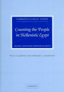 Counting the People in Hellenistic Egypt  Volume 1  Population Registers  P  Count
