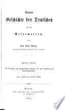 Neuere Geschichte der Deutschen seit der Reformation