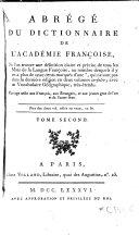 Abrégé du Dictionnaire de l'Académie françoise ...