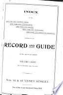 Real Estate Record and Builders' Guide