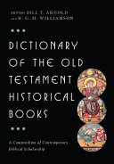 Pdf Dictionary of the Old Testament: Historical Books Telecharger
