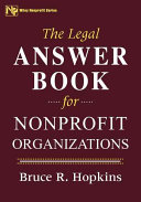 The Legal Answer Book for Nonprofit Organizations
