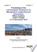 ECMLG2015 11th European Conference on Management Leadership and Governance Book