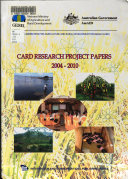 CARD Research Project Papers  2004 2010