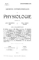 Archives internationales de physiologie et de biochimie