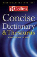 Collins Concise Dictionary   Thesaurus Book PDF