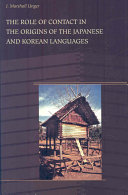 The Role of Contact in the Origins of the Japanese and Korean Languages