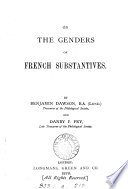On the genders of French substantives  by B  Dawson and D P  Fry Book