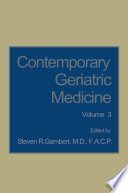 Contemporary Geriatric Medicine Book PDF