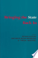 Bringing the State Back In by Social Science Research Council (U.S.). Committee on States and Social Structures,Joint Committee on Latin American Studies,Joint Committee on Western Europe PDF