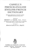 Cassell's French-English, English-French Dictionary