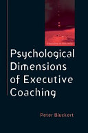 Psychological Dimensions Of Executive Coaching