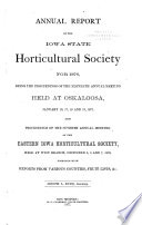 Annual Report of the Iowa State Horticultural Society for the Year ...