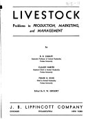 Livestock Problems in Production  Marketing  and Management