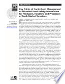 Key Points of Control and Management of Microbial Food Safety: Information for P