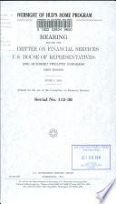 Oversight of HUD s HOME Program Book PDF
