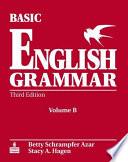 Basic English Grammar Workbook B with Answer Key