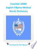 Essential 18000 Medical Words Dictionary In English Filipino