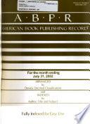 American Book Publishing Record  , Volume 43,Edições 7-12