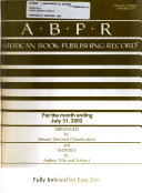 American Book Publishing Record Book PDF