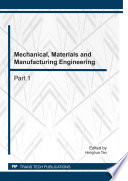 Mechanical  Materials and Manufacturing Engineering Book