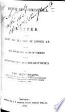 Dublin Improvement Bill. A letter, etc