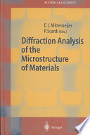 Diffraction Analysis Of The Microstructure Of Materials Book PDF