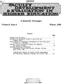 Faculty Development & Evaluation in Higher Education