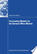 Forecasting Models for the German Office Market