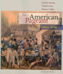 The American Pageant  Volume I  To 1877 Book PDF