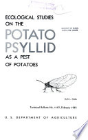 Ecological Studies on the Potato Psyllid as a Pest of Potatoes