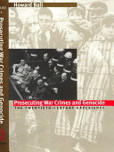 Prosecuting War Crimes and Genocide Book PDF