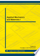 Applied Mechanics and Materials I Book