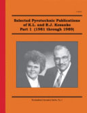 Selected Pyrotechnic Publications of K  L  and B  J  Kosanke  Part 1