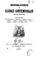 Biographie du clergé contemporain