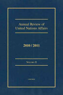 Annual Review Of United Nations Affairs Book PDF